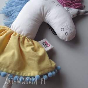 jednorożec maskotki żółte klaus w spódniczce - na
