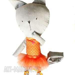 maskotki kot kieszonkowa koteczka. balerina.