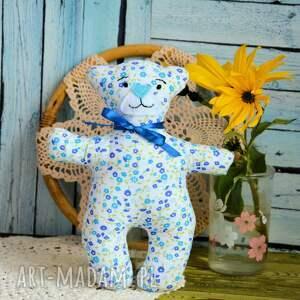 niebieskie maskotki dziewczynka kochany mały miś - olcia