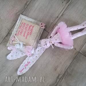 różowe maskotki narodziny komplet dla małej dziewczynki