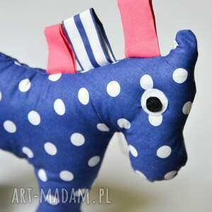 przytulanka maskotki niebieskie konik groszek