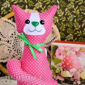 ręcznie robione maskotki kotek torebkowy - kinia - 25