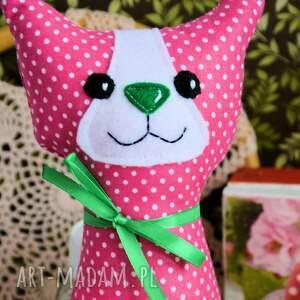 różowe maskotki dziewczynka kotek torebkowy - kinia - 25