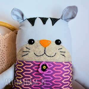 różowe maskotki tulikotek kotek - jola - 40