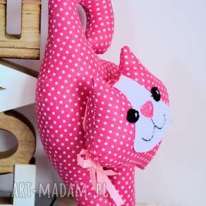 różowe maskotki kotek - zawieszka - adela