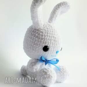 handmade maskotki króliczek błękitek