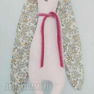 handmade maskotki zabawka króliczek przytulaczek