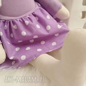 fioletowe maskotki króliczek tilda - przytulanka
