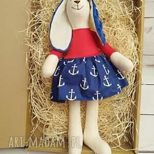 niebieskie maskotki przytulanka króliczek tilda