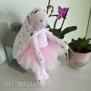 maskotki chrzciny króliczki hand made