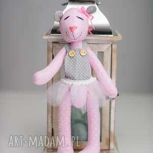 różowe maskotki personalizacja królik miś z imieniem