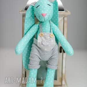 szare maskotki królik * uszyty z tkaniny w 100% bawełnianej *