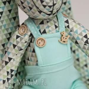 królik maskotki turkusowe personalizacja prezent
