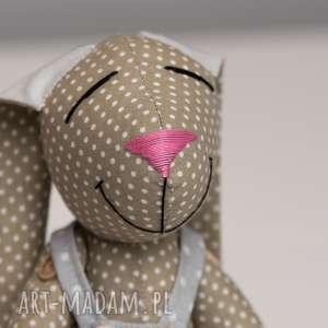 brązowe maskotki imię królik personalzacja prezent