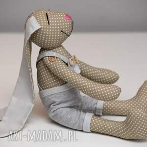 królik maskotki beżowe * uszyty z tkaniny w 100% bawełnianej *