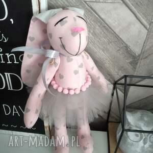 ręcznie robione maskotki królik prezent chrzest