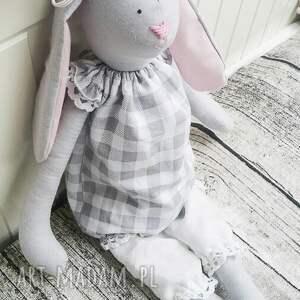 białe maskotki maskotka królik tilda elisia