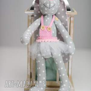 maskotki królik z imieniem dedykacją