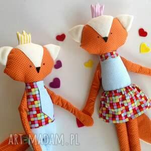 hand-made maskotki lis króliska