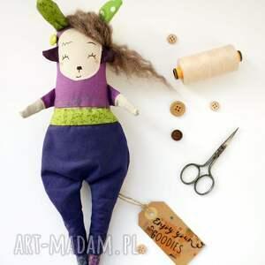 Mimi Monster Lalka handmade z tkaniny - Saba Monsterówna - szmacianka na prezent