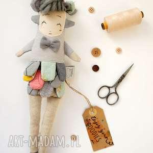 hand made maskotki lalka waldorfska handmade z tkaniny - hiroko