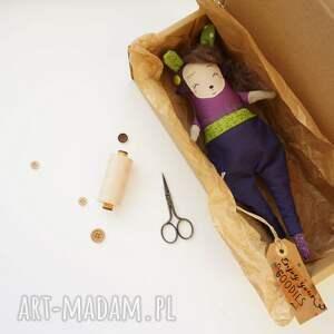 efektowne maskotki lalka z-charakterem handmade z tkaniny - saba