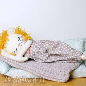 pomarańczowe maskotki przytulanka lalka lew