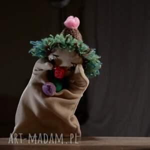 maskotki maskotka kreatywna lalka pacynka zielony klown