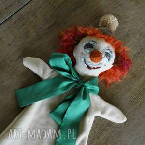 maskotki pacynka lalka na rękę pomarańczowy