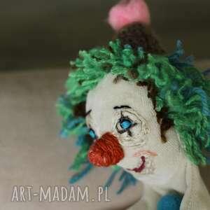 maskotka kreatywna lalka pacynka zielony klown