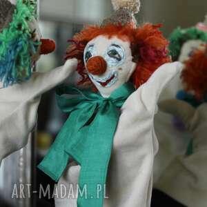 zielone maskotki zabawka lalka pacynka na rękę pomarańczowy