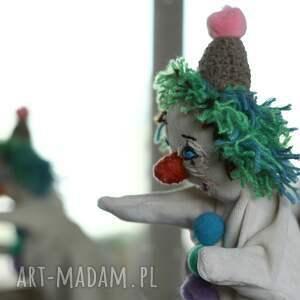 lalka maskotki zielone pacynka zielony klown