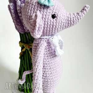 maskotki fiolet maskota słonik