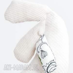 białe maskotki maskotka podgłówek, kurzy