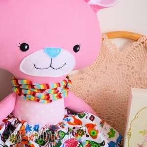 miś maskotki różowe duży - panna malinka