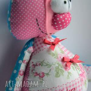 prezent maskotki turkusowe miś franciszek, szyta przytulanka