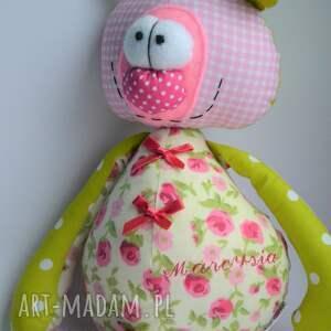 miś maskotki różowe franek dla dziewczynki. Szyta