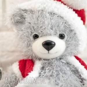 świąteczny prezent miś mikołajek