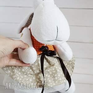 pomarańczowe maskotki maskotka owieczka (107)