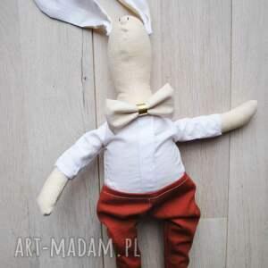 ręcznie wykonane maskotki przytulanka pan królik