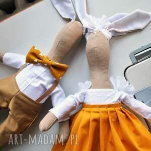 miś maskotki pomarańczowe pani królik maskotka
