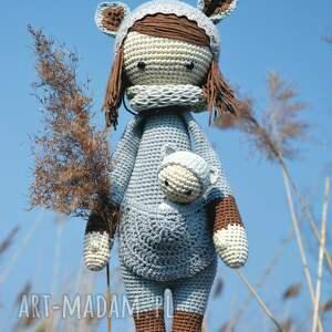 maskotki: Piękna szydełkowa lala z bobaskiem na zamówienie dziecko