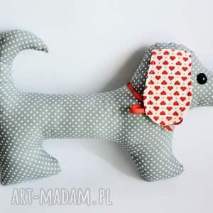 białe maskotki zabawka pies jamnik - jacuś - 35