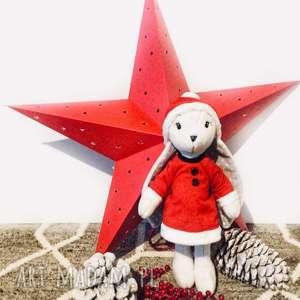 upominki świąteczne króliś tuliś pluszowy królik, mikołajka