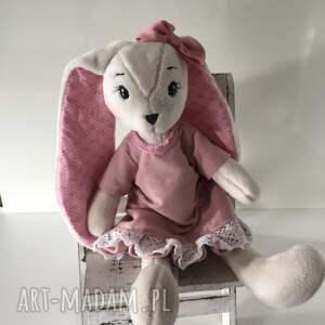 różowe maskotki zajączek pluszowy królik maskotka,