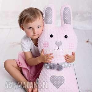 królik-hand-made maskotki turkusowe poduszka dziecięca królik