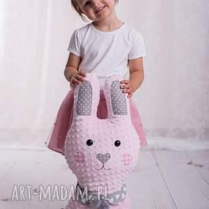 różowe maskotki pomysł-na-prezent poduszka dziecięca królik
