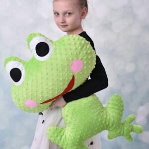 maskotki żaba-minky poduszka dziecięca żaba