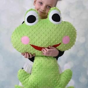 maskotki poduszka-żaba poduszka dziecięca żaba
