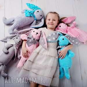 szare maskotki przytulanka-królik przytulanka dziecięca królik